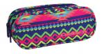 Piórnik dwukomorowy saszetka COOLPACK CLEVER w kolorowe zygzaki, BOHO ELECTRA 785 (74285)