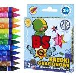 Kredki świecowe grafionowe 12 kolorów Brawl Stars BS ASTRA (316121008)