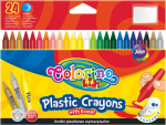 Kredki plastikowe, wymazywalne, 24 kolory COLORINO (67348)