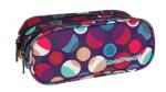 Piórnik dwukomorowy saszetka COOLPACK CLEVER w kolorowe kropki, MOSAIC DOTS 724 (72588)