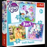 TREFL Puzzle 3 w 1 My Little Pony, Radosne dni kucyków (34843)