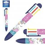 Długopis automatyczny 6 kolorów UNICORN Jednorożec (D6KJR12)