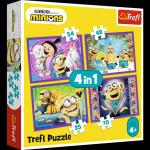 TREFL Puzzle 4 w 1 W świecie Minionków (34345)