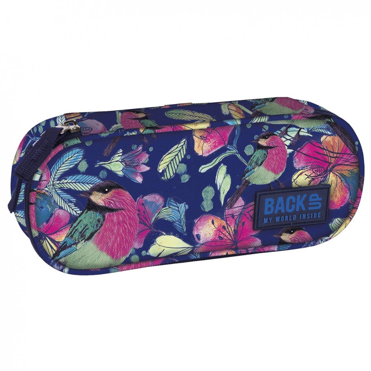 ab6b45ce3c23e Piórnik szkolny Back UP pastelowe kwiaty SPRING (PB1A4)   plecaki ...