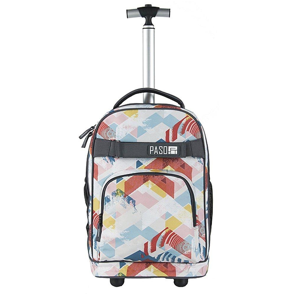 1d277e5c2cf2a Plecak szkolny, młodzieżowy na kółkach DIRECTION, kolorowe strzaki PASO  (171230UG)