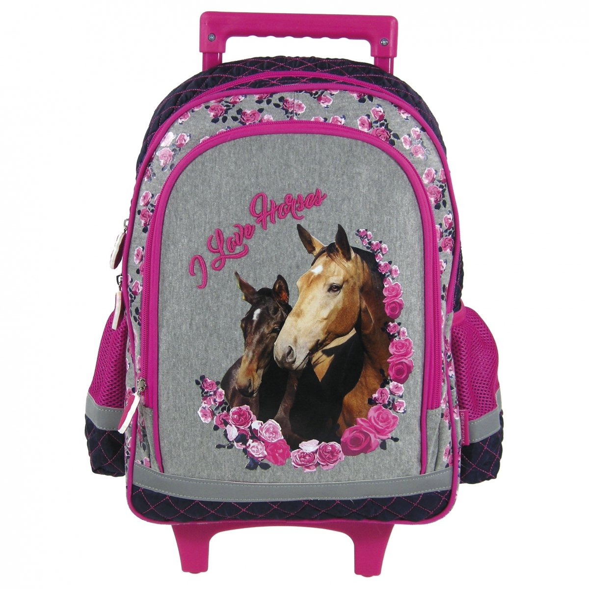 6500beed1ba7a Plecak szkolny na kółkach I Love Horses KONIE (PL15KKO13)