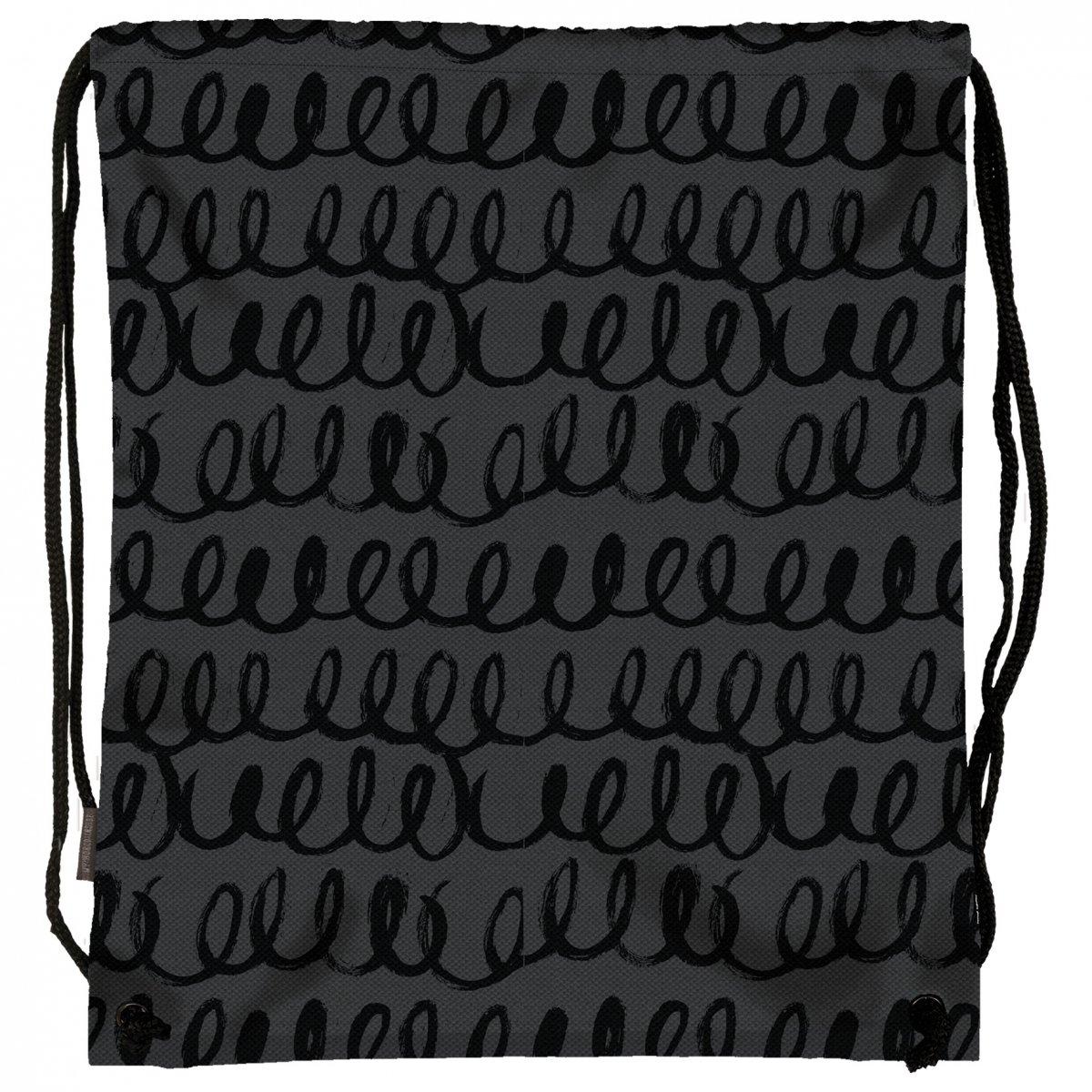 986e409bc04a8 Worek na obuwie Back UP czarne szlaczki BLACK TRAIL (WOB1A55 ...