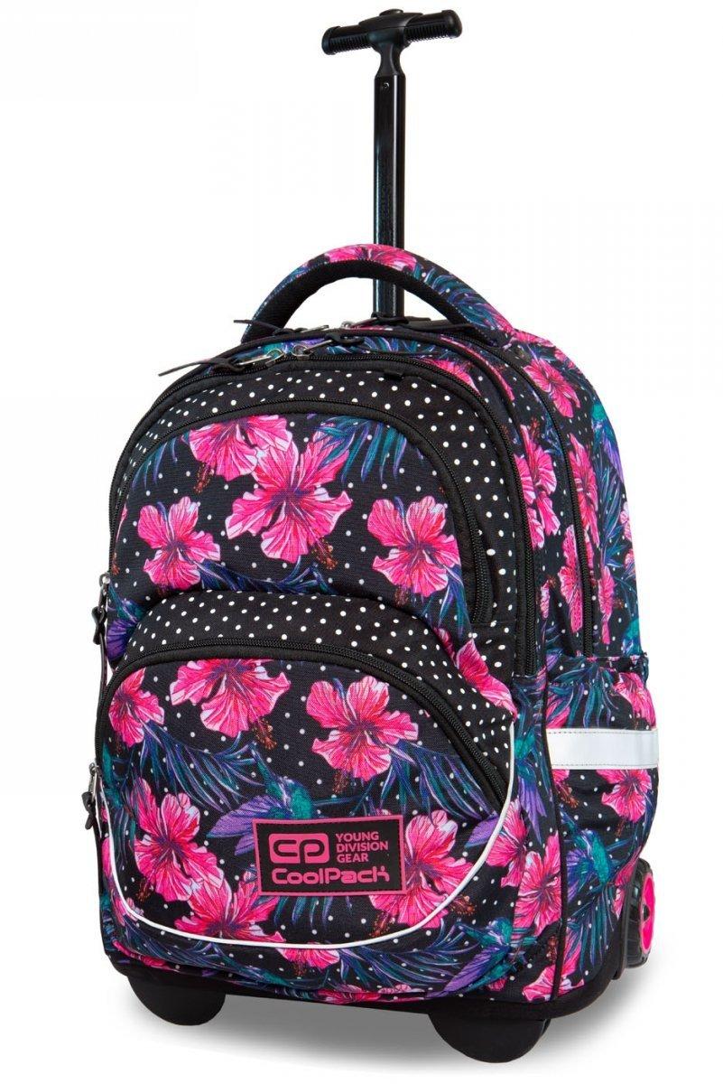 e71a2bb75845d Plecak CoolPack STARR na kółkach w różowe kwiaty, BLOSSOM (B35102 ...