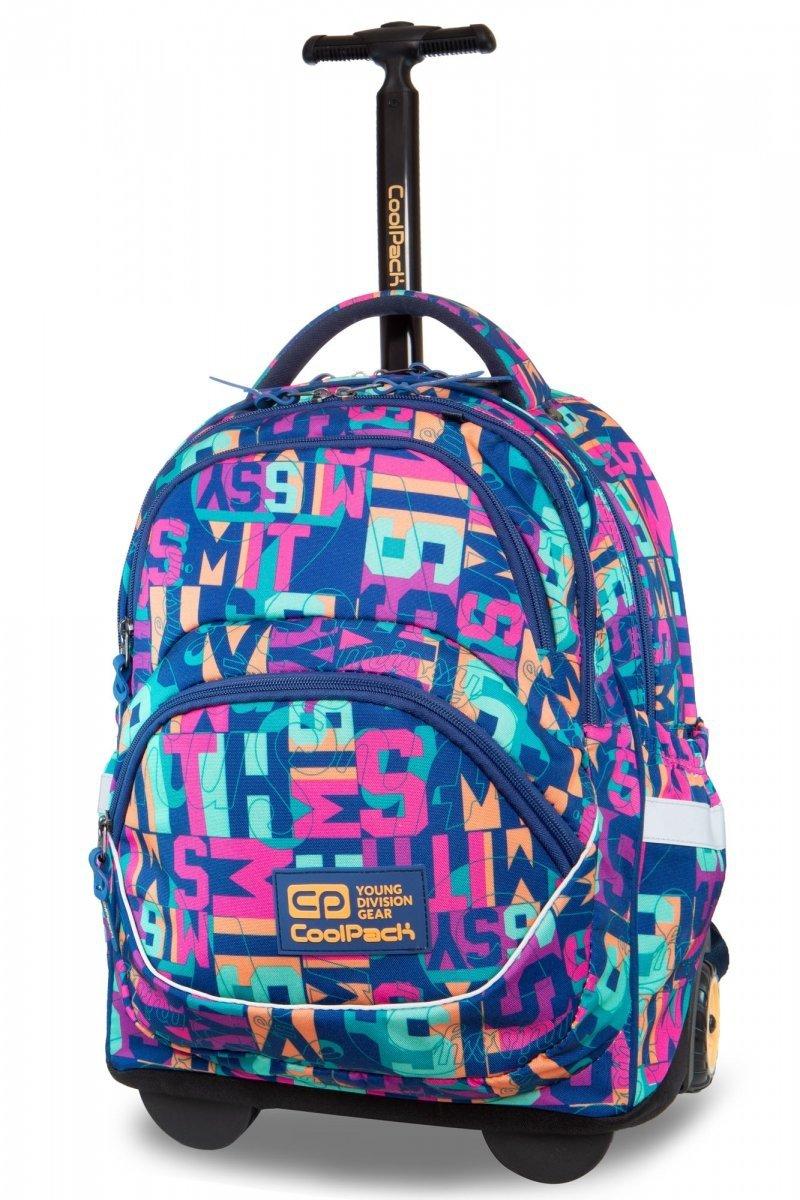 53b115d52c6aa Plecak CoolPack STARR na kółkach w kolorowe napisy