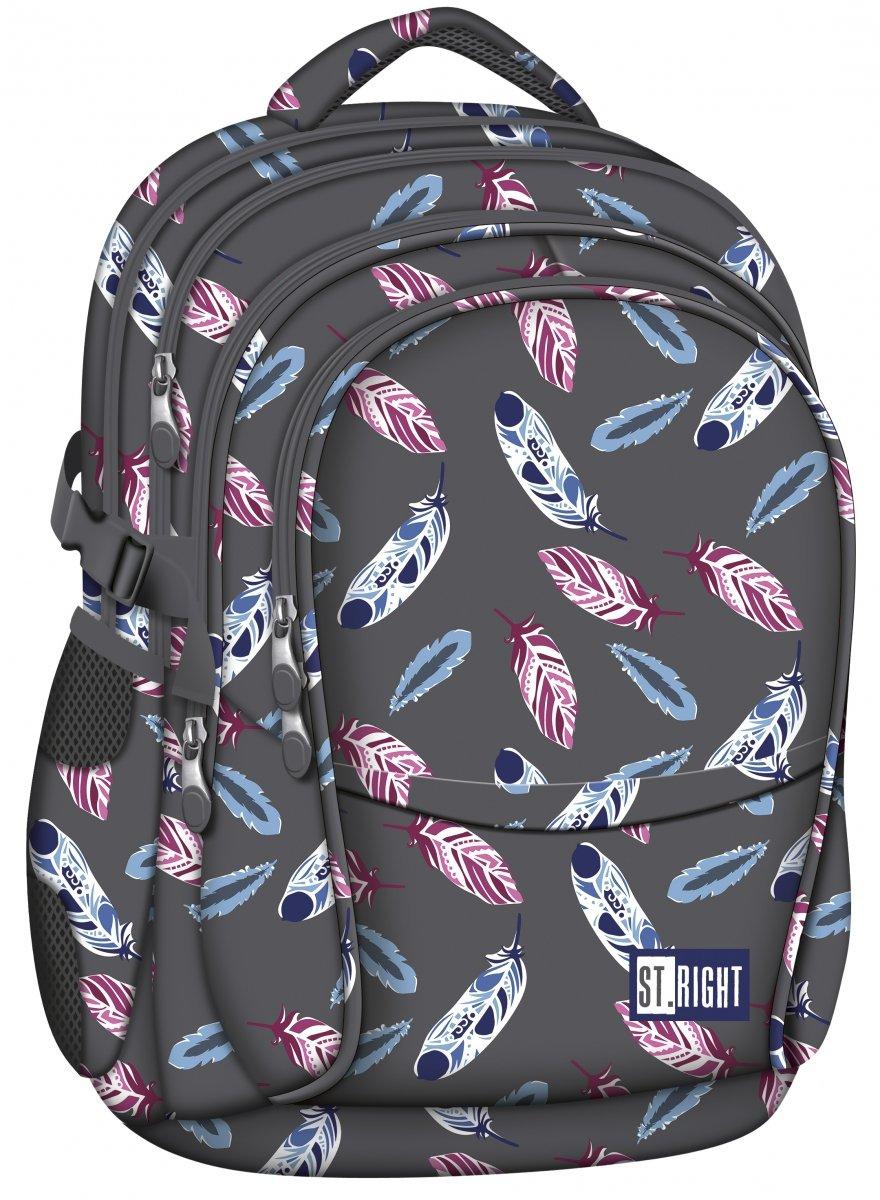 eb21055e6dda1 Plecak szkolny młodzieżowy ST.RIGHT w indiańskie pióra