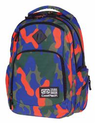 Plecak szkolny młodzieżowy COOLPACK BREAK 2 niebiesko-pomarańczowe moro CAMOUFLAGE TANGERINE 877 (76609)