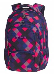 Plecak CoolPack COLLEGE kolorowe romby, ELECTRIC PINK (82218CP)