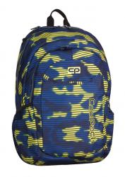 Plecak szkolny młodzieżowy COOLPACK URBAN 2 granatowo - żółte moro, NAVY HAZE 937 (70195)