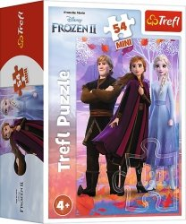 TREFL Puzzle mini 54 el. Kraina Lodu  FROZEN 2, Anna, Elza i Kristoff (19637)