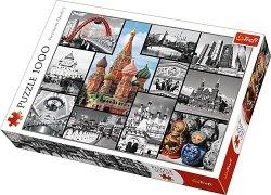 TREFL Puzzle 1000 el. MOSKWA - kolaż (10380)