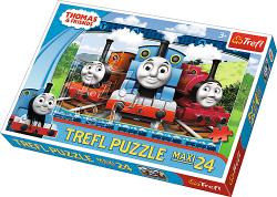 TREFL Puzzle MAXI 24 el. Ciuchcia Tomek i przyjaciele (14231)