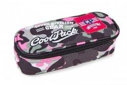 Piórnik CoolPack CAMPUS różowe moro w znaczki CAMO PINK BADGES (24060CP)
