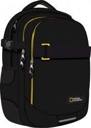 Plecak szkolny młodzieżowy ST.RIGHT czarny z żółtymi dodatkami, NATIONAL GEOGRAPHIC BP34 (24540)