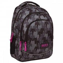 Plecak szkolny młodzieżowy BackUP 26 L SZARE KOTY (PLB3X24)