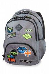 Plecak CoolPack BENTLEY szary w znaczki, BADGES GREY (B24052)