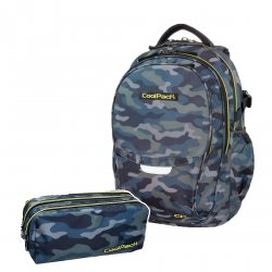 ZESTAW 2 el. Plecak CoolPack FACTOR w moro, MILITARY (B02008SET2CZ)