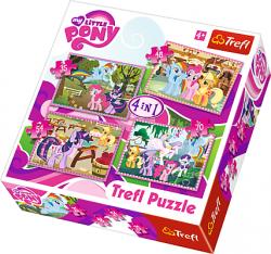 TREFL Puzzle 4 w 1 My Little Pony, Wakacje Kucyków  (34153)