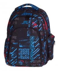 Plecak CoolPack MAXI niebiesko - czerwone wzory, UNDERGROUND 831 (75626)