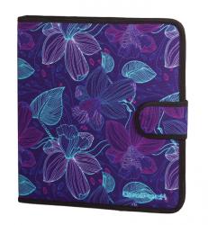 Teczka wielofunkcyjna organizer MATE, fioletowa w kwiaty, LUNAR BLOSSOM (74582CP)
