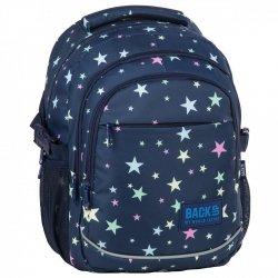 Plecak szkolny młodzieżowy BackUP w gwiazdy, STARS (PLB2G66)