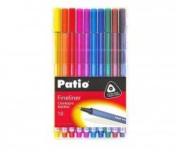 Cienkopisy pisaki TRIO 10 kolorów PATIO (18562)