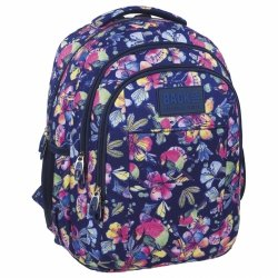 Plecak szkolny młodzieżowy Back UP pastelowe kwiaty SPRING (PLB1H4)