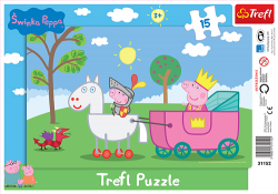 TREFL Puzzle Ramkowe 15 el. Świnka Peppa, Rycerz Peppa (31152)