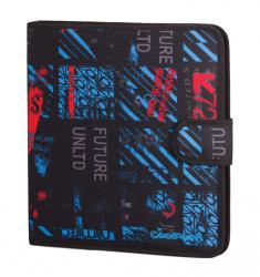 Teczka wielofunkcyjna organizer MATE, niebiesko-czerwone wzory, UNDERGROUND (75657CP)