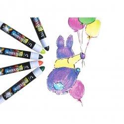 Żelowe grube kredki zapachowe RAINBOW 5 kolorów (SIRB5500)