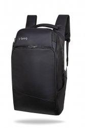 Plecak męski na laptopa 13-15,6'' z USB Forge Black Czarny R-Bag (Z061)