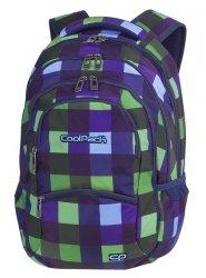 Plecak szkolny młodzieżowy COOLPACK COLLEGE zielono granatowa krata, CRISS CROSS (82065CP)