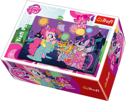TREFL Puzzle mini 54 el. My Little Pony, Kucyki na festiwalu (19467)