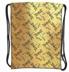 Plecak Worek na sznurkach złote ważki, GOLD DRAGONFLY ST.RIGHT SO11 (23165)