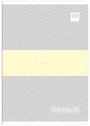 Zeszyt A5 60 kartek w kratkę BB PASTEL Szary (55723)