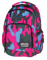 Plecak szkolny młodzieżowy COOLPACK BREAK 2 niebiesko - różowe moro, CAMOUFLAGE CRIMSON 871 (76562)