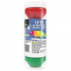 Farby do malowania palcami 4 kolory JUMBO KIDEA (FDPJ4KA)