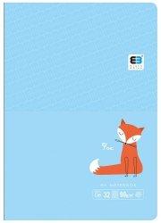 Zeszyt A5 w kolorową linię 32 kartek FOX lisek (61311)