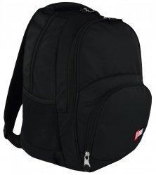 Plecak szkolny młodzieżowy ST.RIGHT czarny, BLACK BP23 (19083)