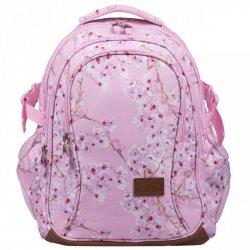 Plecak szkolny młodzieżowy ST.RIGHT w kwiaty wiśni, BLOSSOM BP1 (22663)