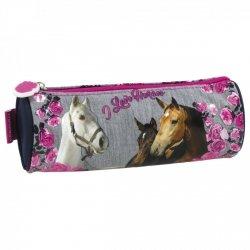 Piórnik tuba I LOVE HORSES z koniem (PTKO13)