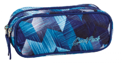 Piórnik dwukomorowy saszetka COOLPACK CLEVER niebieski, FROZEN BLUE 640 (77255)