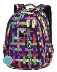 PLECAK CoolPack STRIKE kolorowa przeplatanka, RIBBON GRID + pompon (87889CP)