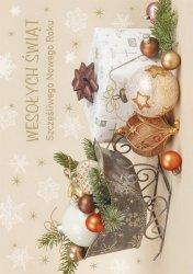Kartka świąteczna BOŻE NARODZENIE 12 x 17 cm + koperta (47527)