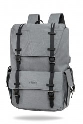Plecak męski na laptop 13-15,6 z USB Packer Gray Szary  R-Bag (Z012)