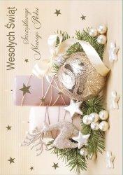Kartka świąteczna BOŻE NARODZENIE 12 x 17 cm + koperta (41307)